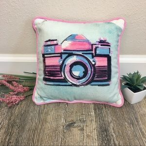Primitives By Kathy Polaroid Camera Accent Pillow